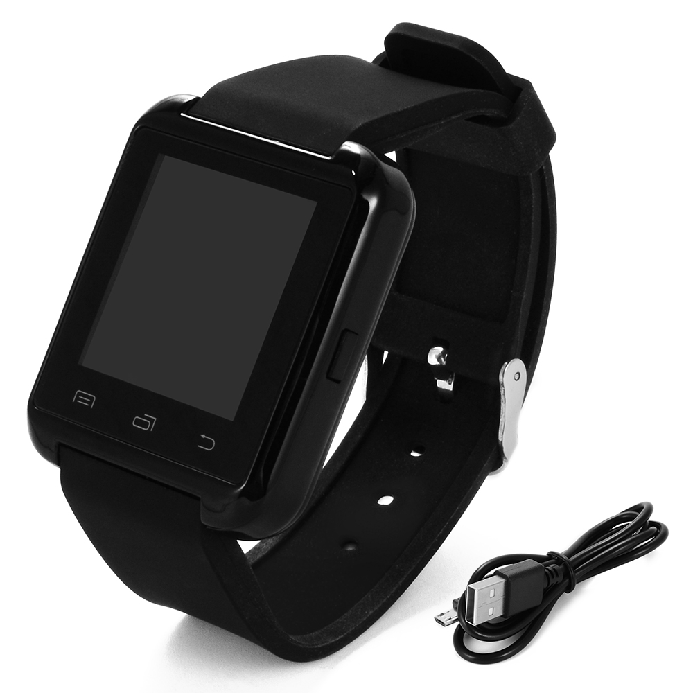 bluetooth smartwatch uhr armband handsfree schrittz hler sms f r android handy ebay. Black Bedroom Furniture Sets. Home Design Ideas