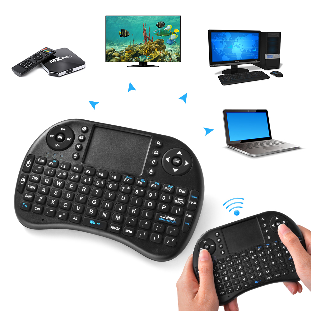 mini wireless keyboard mouse touchpad gaming remote control for xbox 360 ac624 ebay. Black Bedroom Furniture Sets. Home Design Ideas