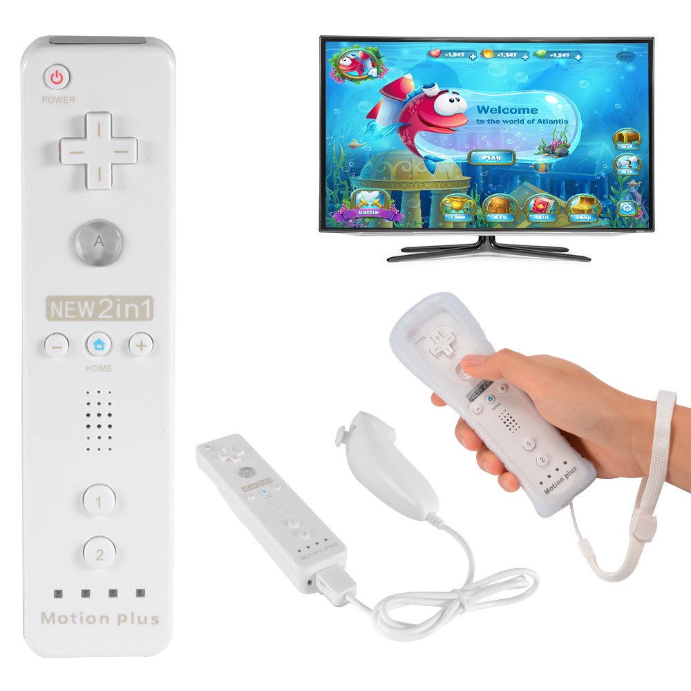 nintendo wii hbs case Product - eeekit 2 packs motion plus sensor adapter, silicone protective skin case cover for nintendo wii wii u remote controller clearance product image.