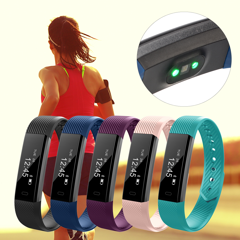 smart armband bluetooth herzfrequenz fitness tracker. Black Bedroom Furniture Sets. Home Design Ideas