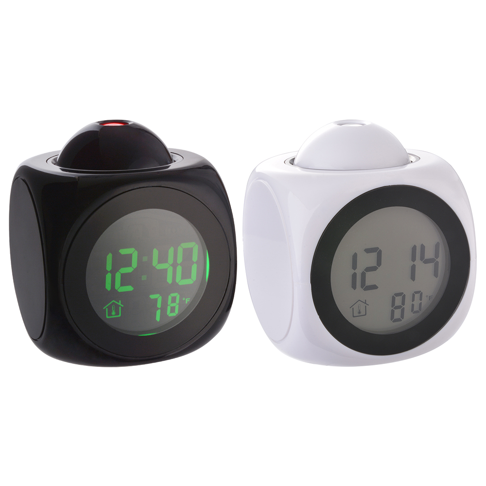 projection alarm clock and weather monitor Multi-function weather station lcd alarm clock with real-time projection.