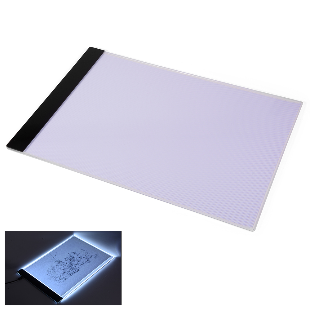 Craft light box for tracing - Package Includes 1 X A4 Led Drawing Board 1 X Clip 1 X Cleaning Cloth 1 X Glove 1 X Usb Cable 1 X Storage Bag 1 X User Manual