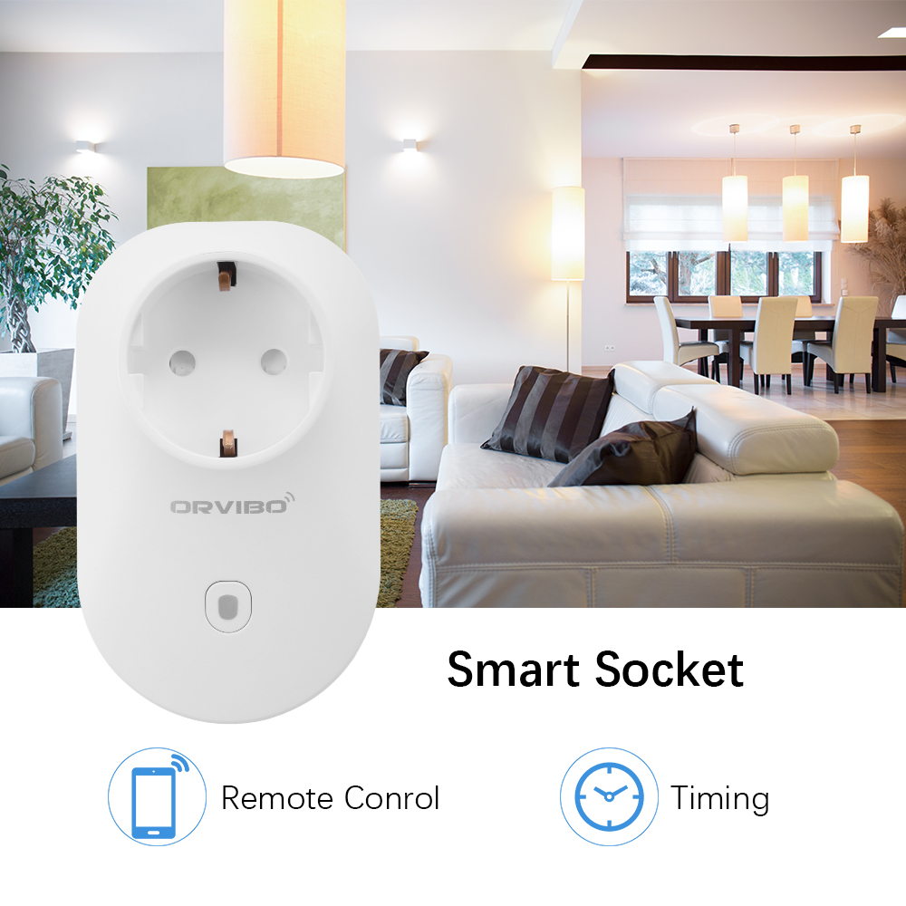 orvibo wifi wireless smart power outlet app remote control. Black Bedroom Furniture Sets. Home Design Ideas