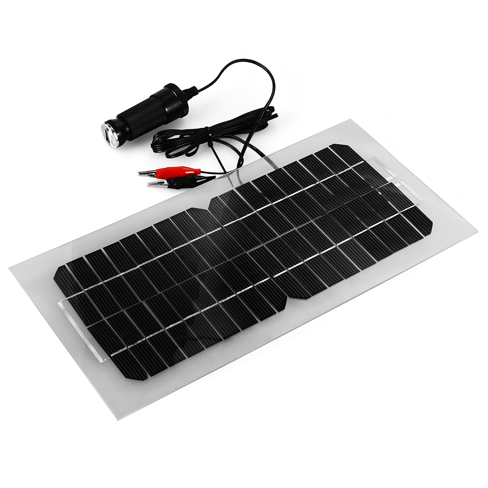 5 5w Solar Panel Battery Charger For Phone Car Auto