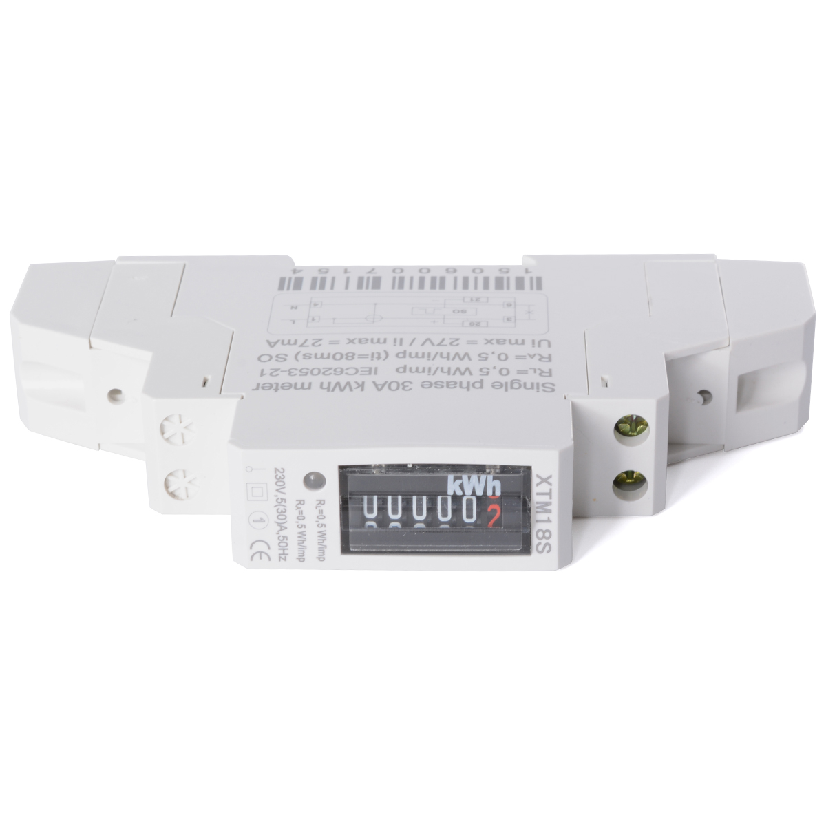 Din Rail Power Meter : Hot hz a kwh meter din rail mounted single phase