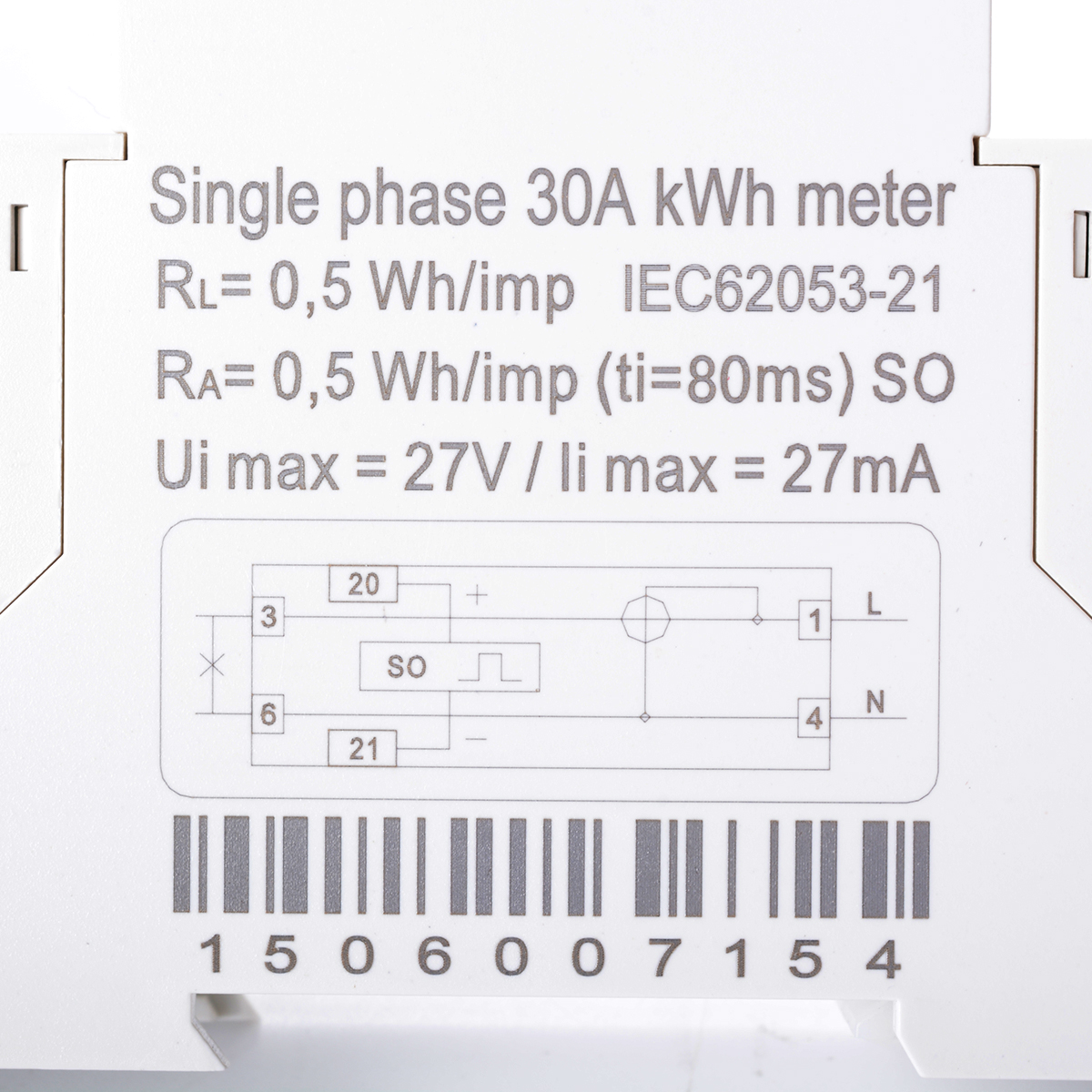 Single Phase Meter : Ac a hz single phase din rail type electric