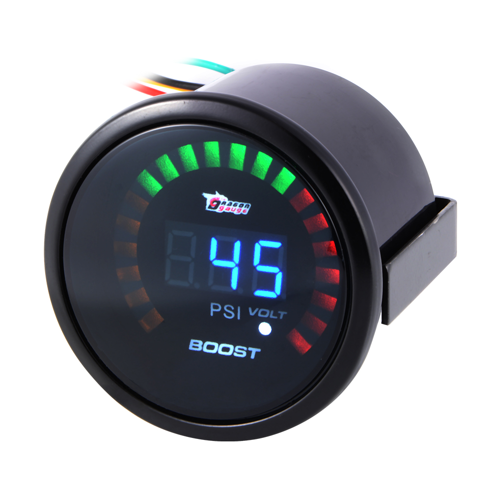 2 52mm auto car turbo boost volt gauge digital led meter psi electronic bi523. Black Bedroom Furniture Sets. Home Design Ideas