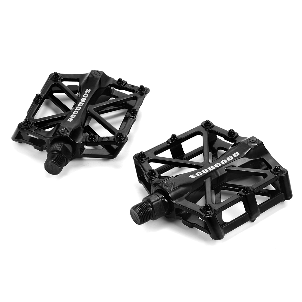 1 Pair Aluminum alloy MTB Mountain Road Bike Pedals flat Platform Bicycle Pedal