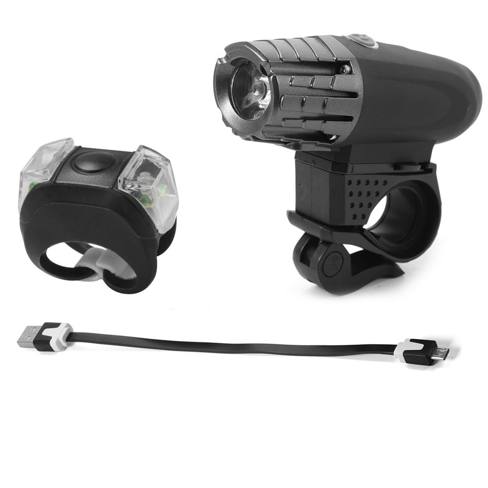 Bike Lights USB Rechargeable Front and Rear Lamp LED ...