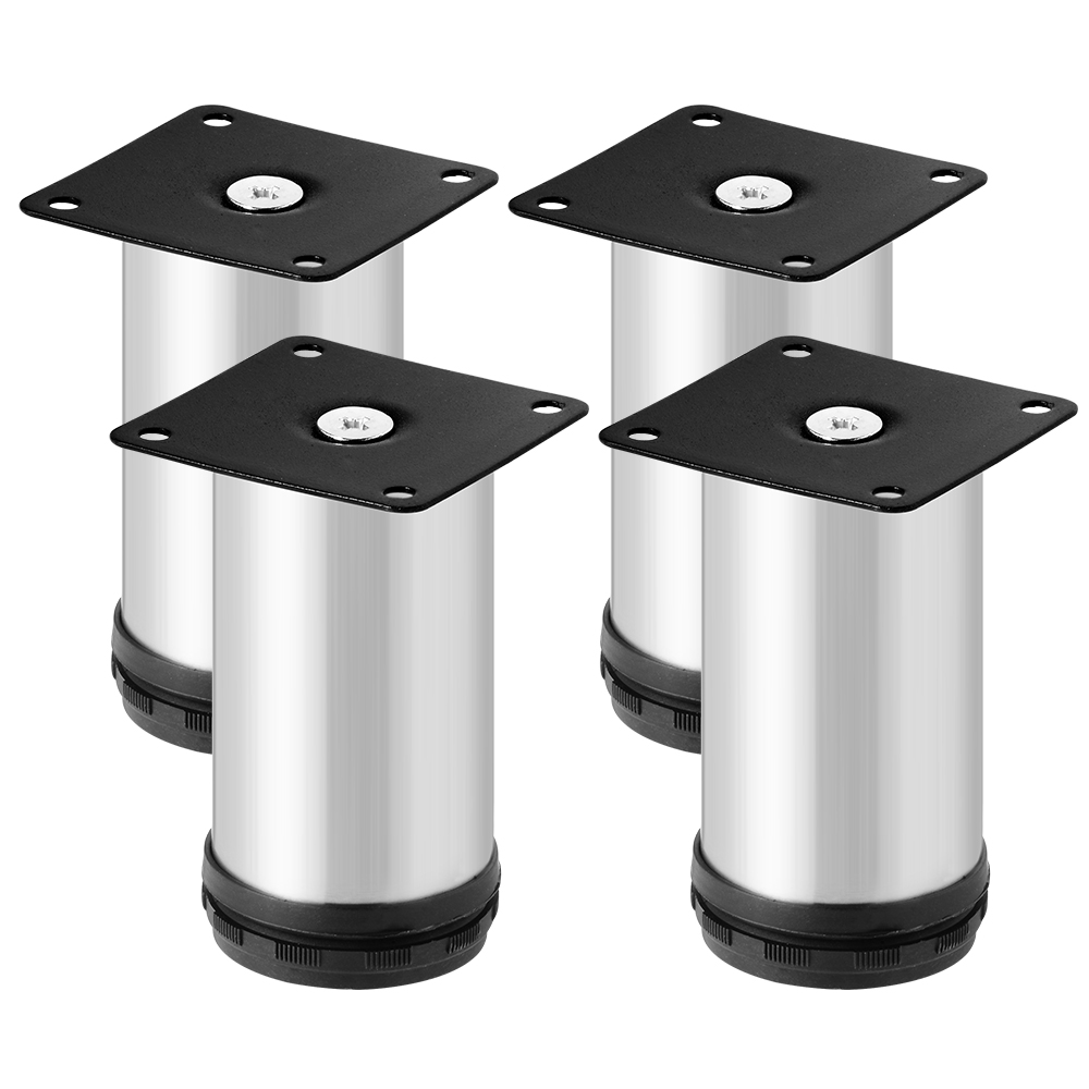 4pcs round adjustable cabinet metal legs furniture feet 80