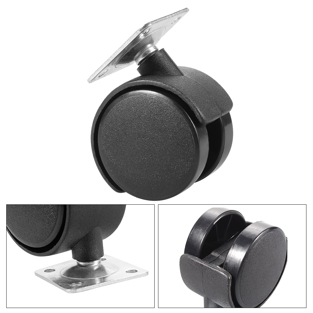 4pcs square mount plate office chair casters furniture for Office chair casters