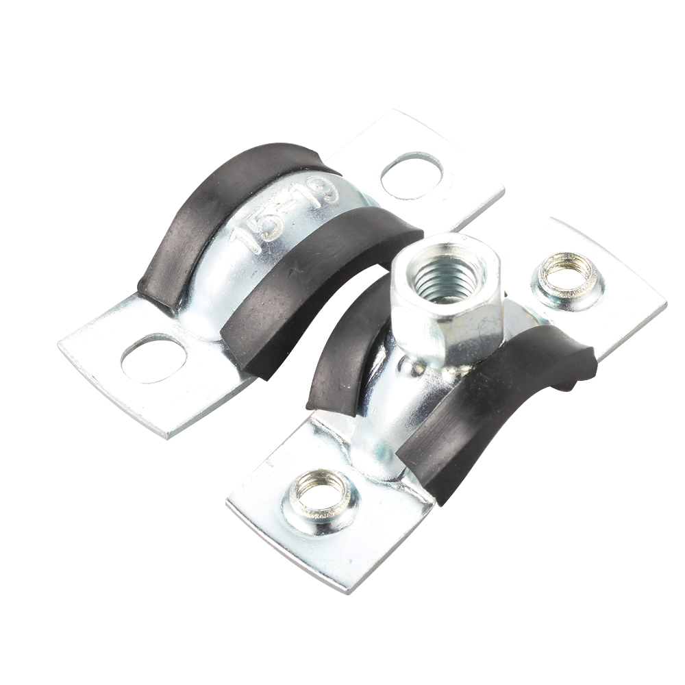 Pcs pipe clamps tube fitting fixing clips lined rubber