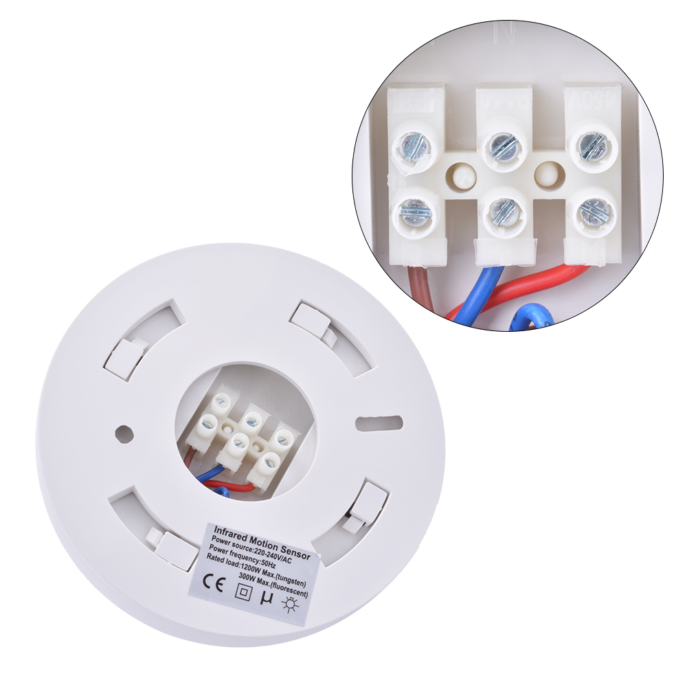 Ceiling Mounted Motion Sensor Lights: 2x 240VAC Infrared Body Motion Sensor Switch Wall Ceiling