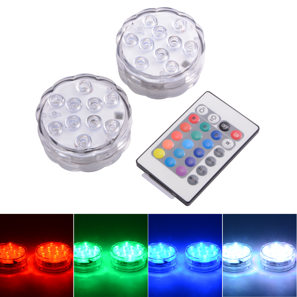 ir remote control smd5050 rgb submersible led lights aaa. Black Bedroom Furniture Sets. Home Design Ideas