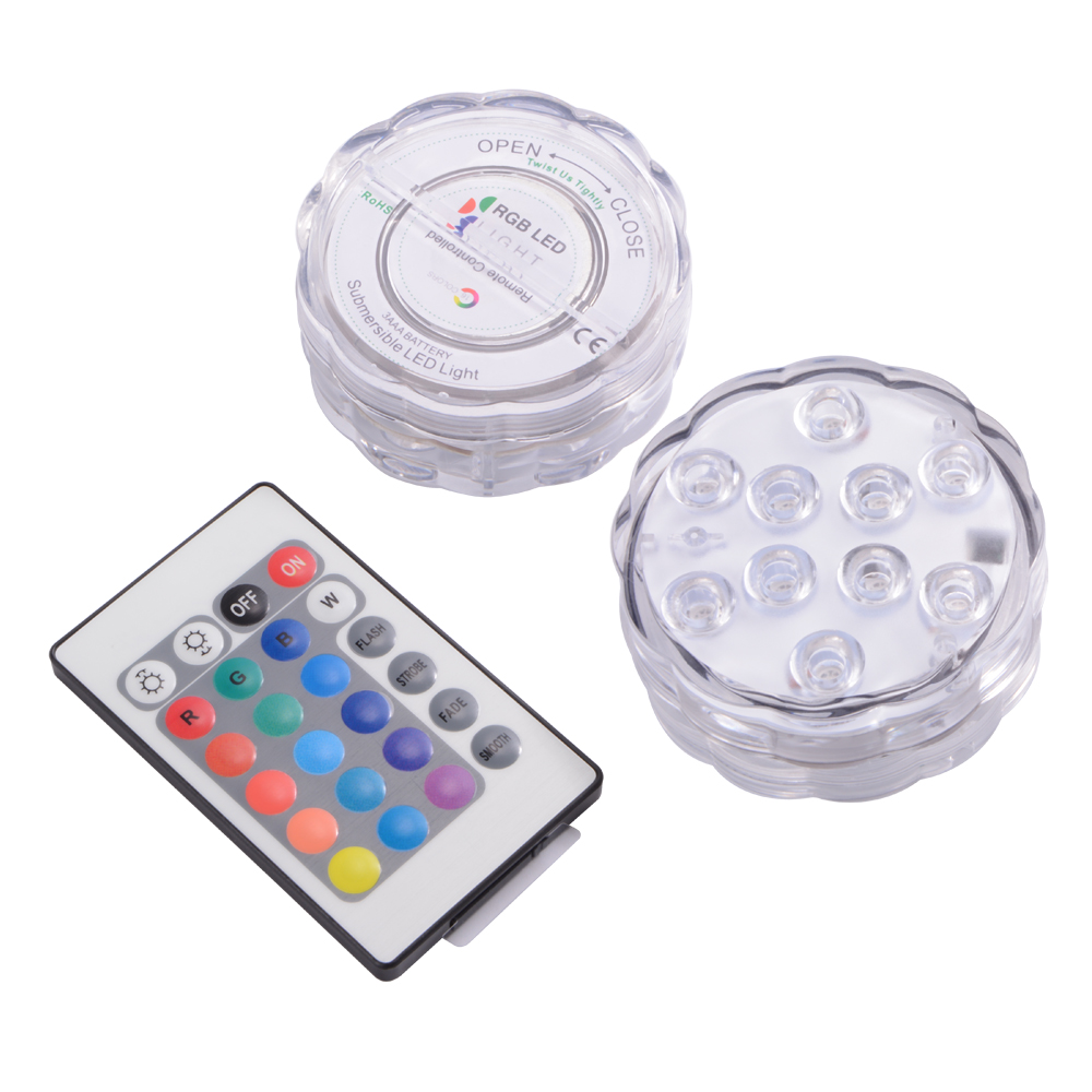 ir remote control smd5050 rgb submersible led lights aaa battery operated ld842 ebay. Black Bedroom Furniture Sets. Home Design Ideas
