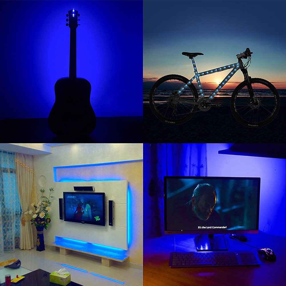 Home Theater Light Color Temperature: 1m LED Home Theater TV Backlight RGB Multi-Color Changing