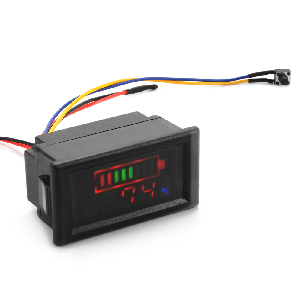 12v Battery Meter : V acid lead battery indicator intuitive temperature