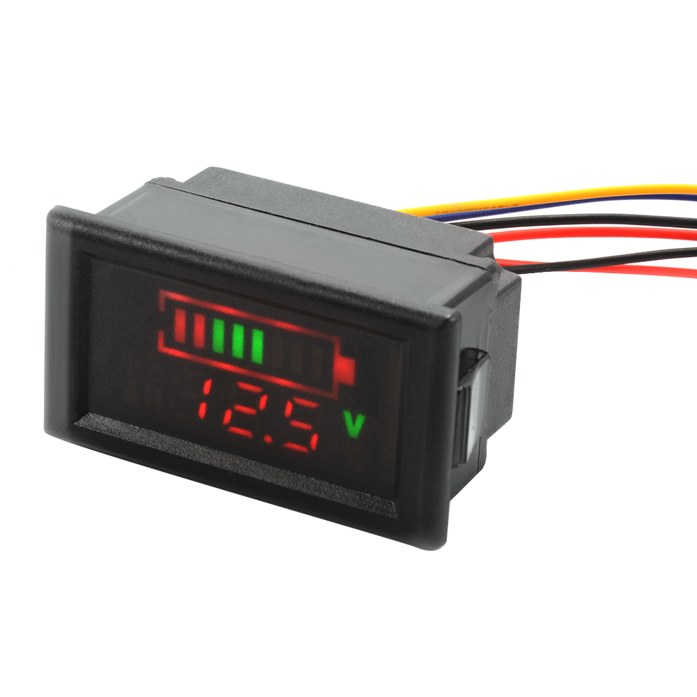 Battery Voltage Monitor : V acid lead battery indicator intuitive temperature