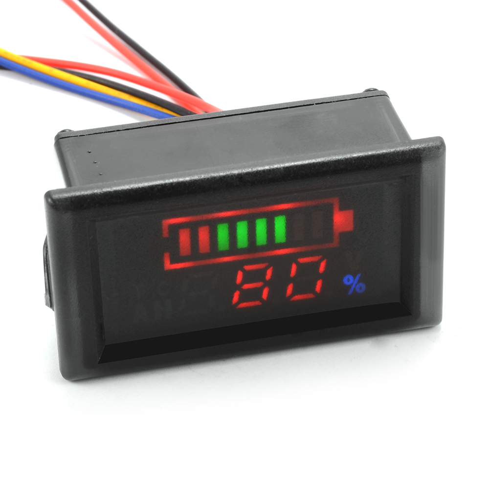 lead acid lithium battery capacity indicator volt temp tester meter 12v ma1091. Black Bedroom Furniture Sets. Home Design Ideas