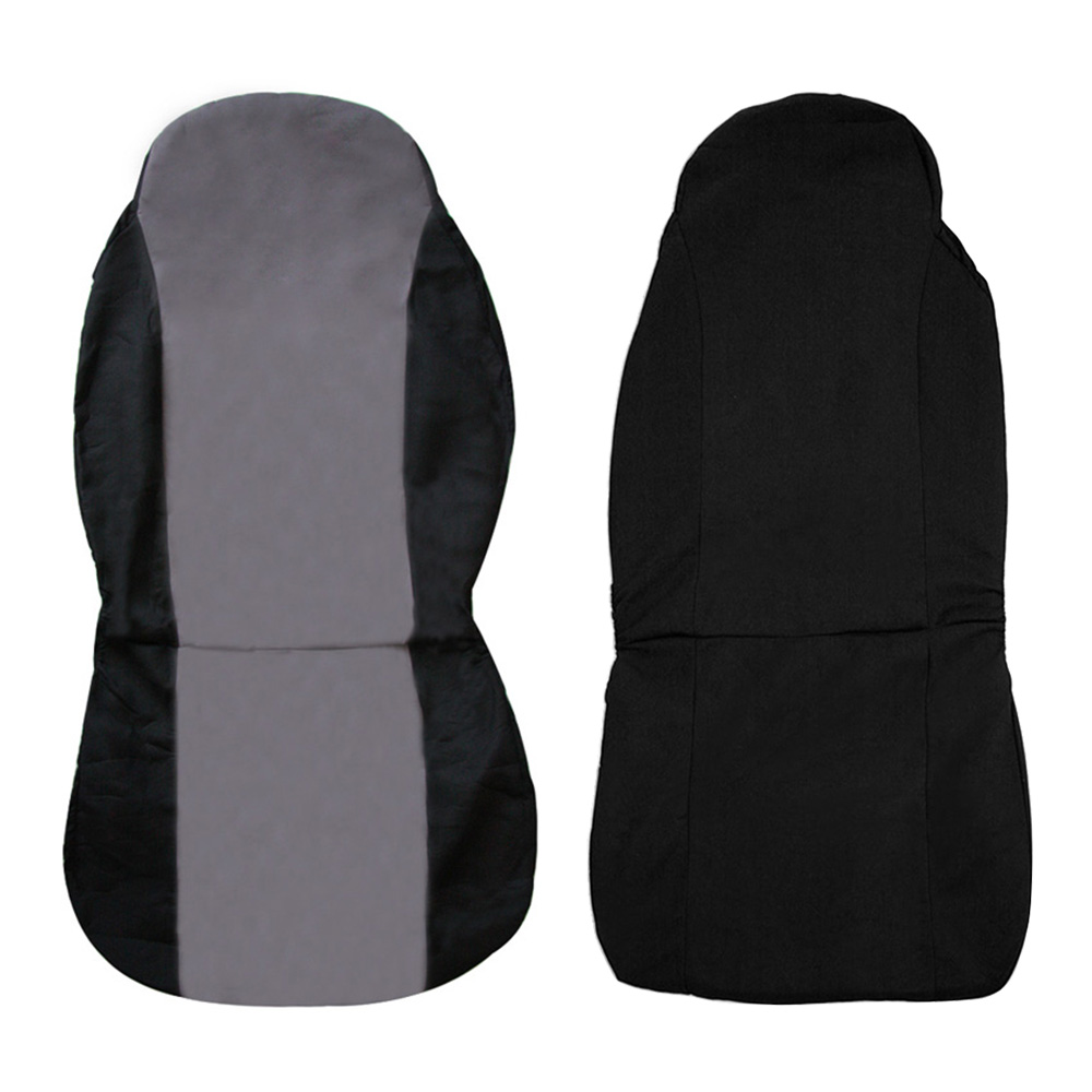 universal removable nylon car auto seat cover protector mat black black grey. Black Bedroom Furniture Sets. Home Design Ideas