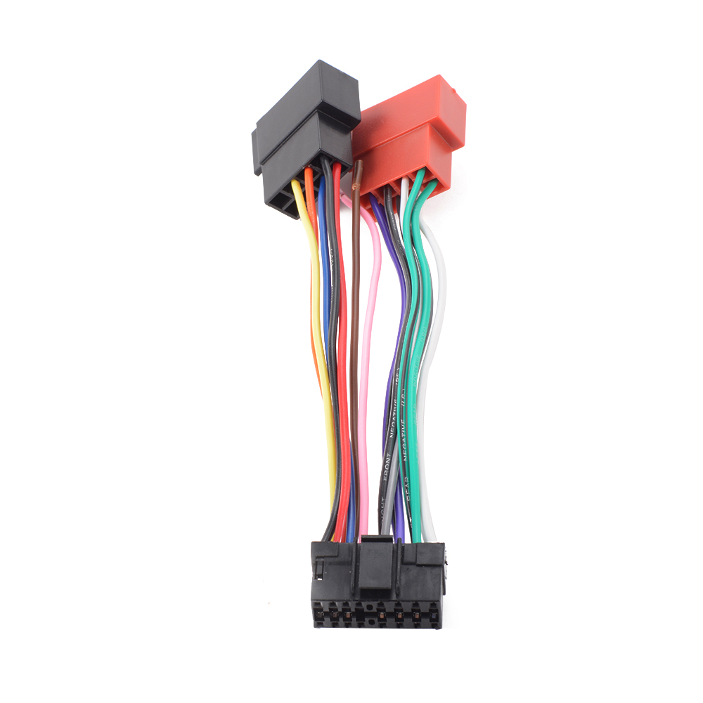Pin iso wiring harness connector adaptor loom for sony