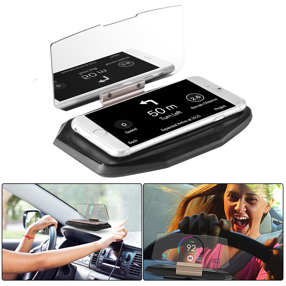 cell phone hud gps navigation holder heads up display. Black Bedroom Furniture Sets. Home Design Ideas