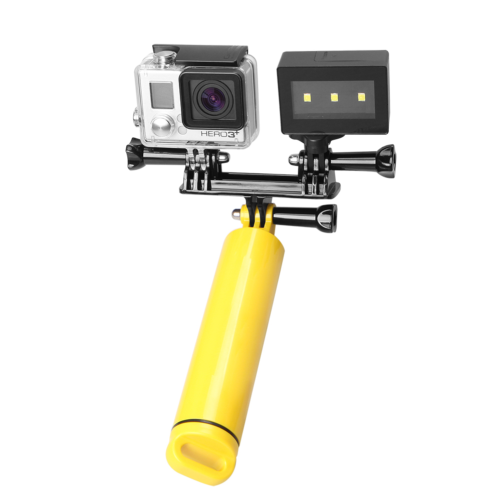 for gopro hero 4 3 waterproof camera underwater led spot. Black Bedroom Furniture Sets. Home Design Ideas