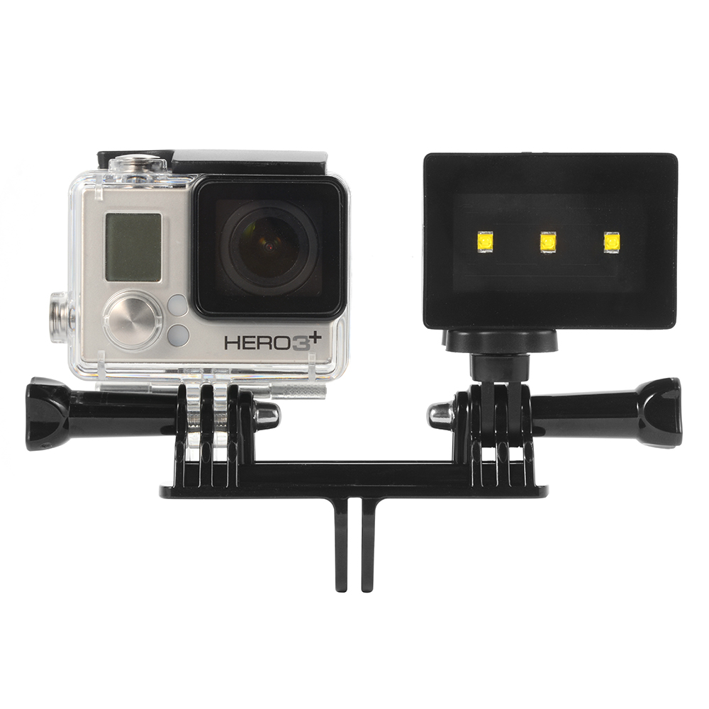 for gopro hero 4 3 waterproof camera underwater led spot light w bracket os761 ebay. Black Bedroom Furniture Sets. Home Design Ideas