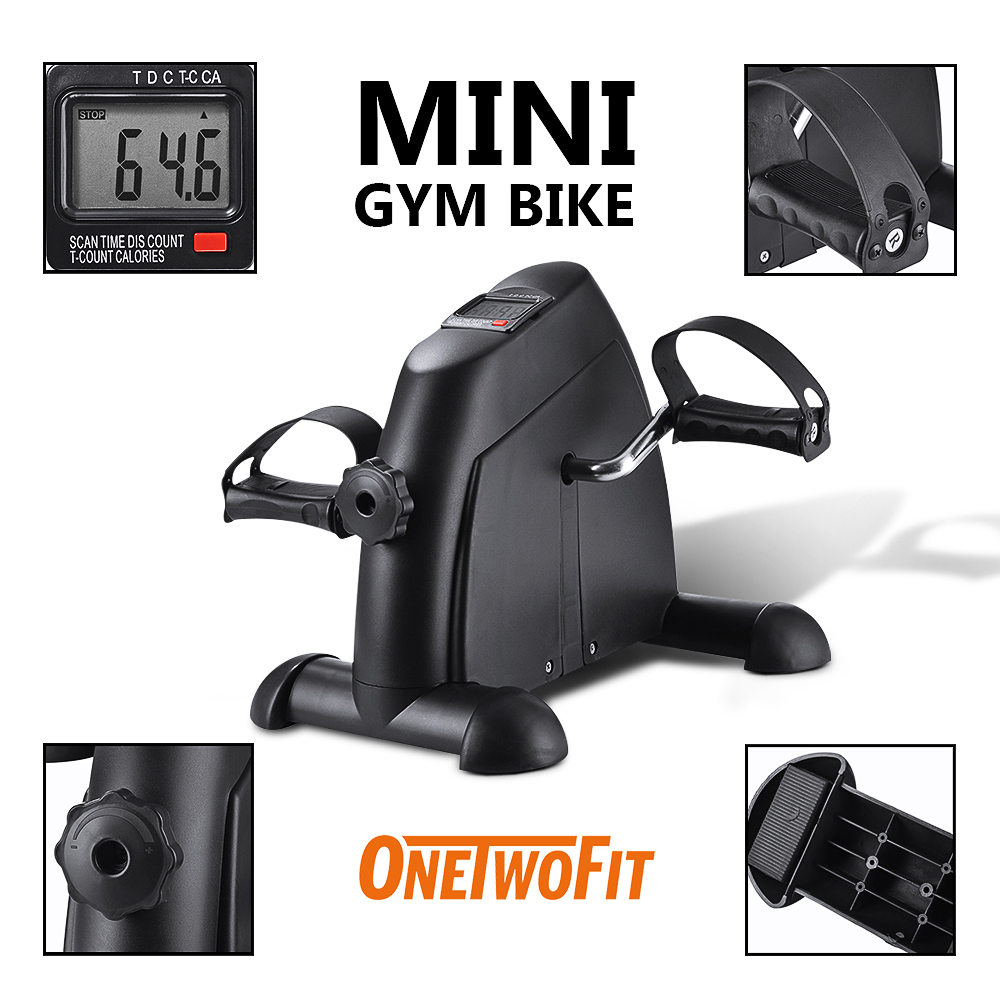 Under Table Mini Exercise Bike Cycling with LCD Display for