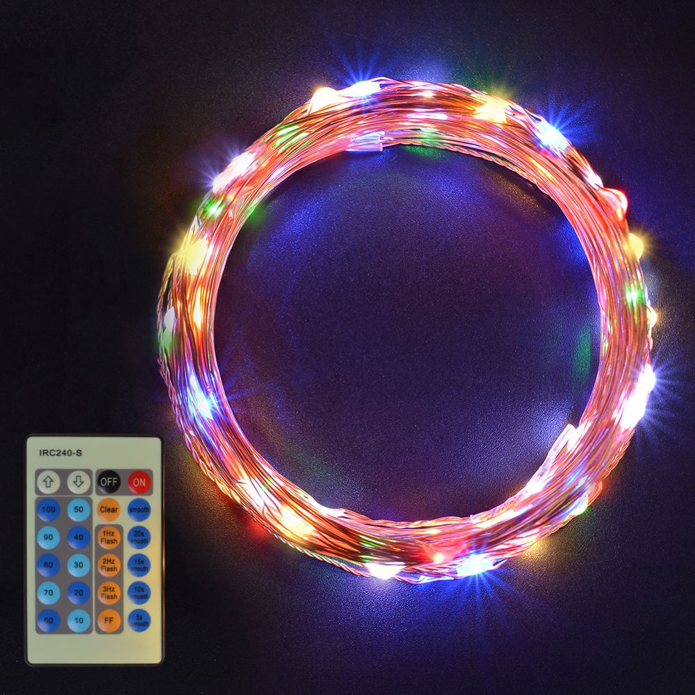 Colorful String Lights : Sunix Waterproof LED Copper Starry Wire String Fairy Light Warm White/Colorful eBay