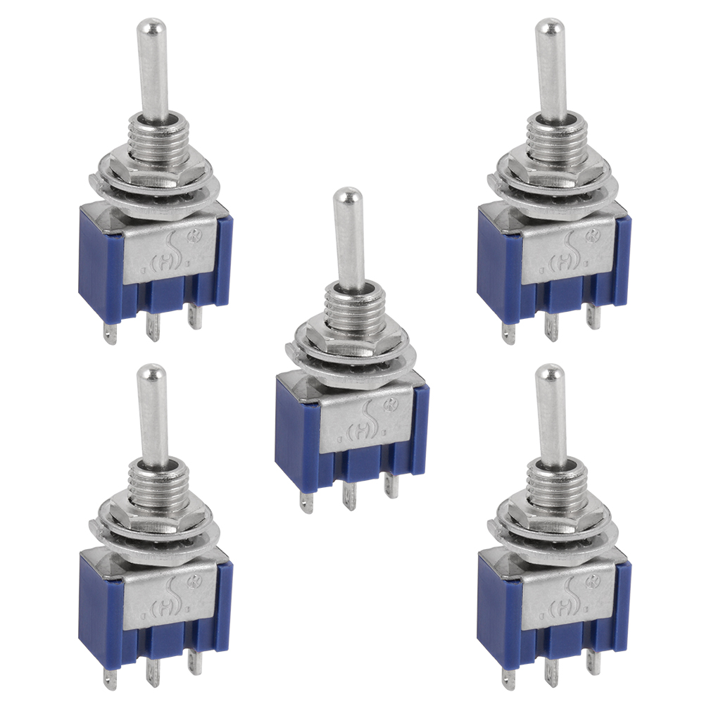 5pcs Ac 125v 6a 3 Position 3pin Spdt On Off On Micro Mini