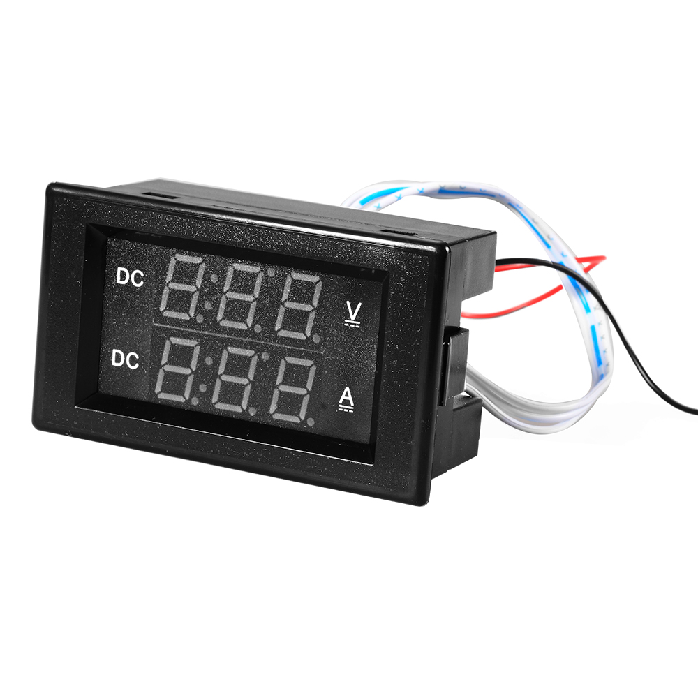 Small Digital Voltmeters Dc : V a dc digital dual led voltmeter ammeter amp volt