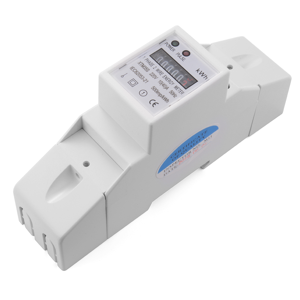 Electrical Phase Meter : Digital hz a kwh power energy meter single phase