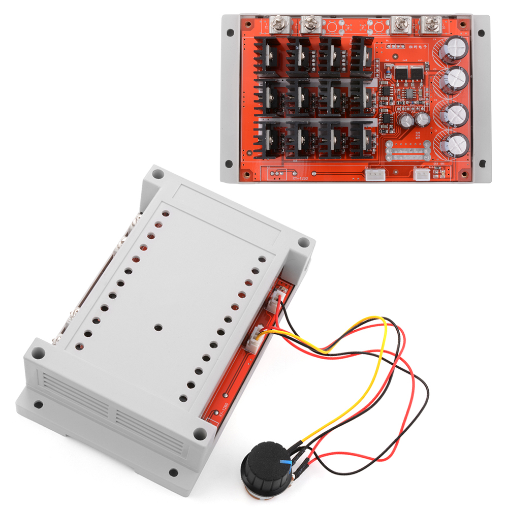 Dc 10 50v 60a motor speed control pwm hho rc controller for Rheostat motor speed control
