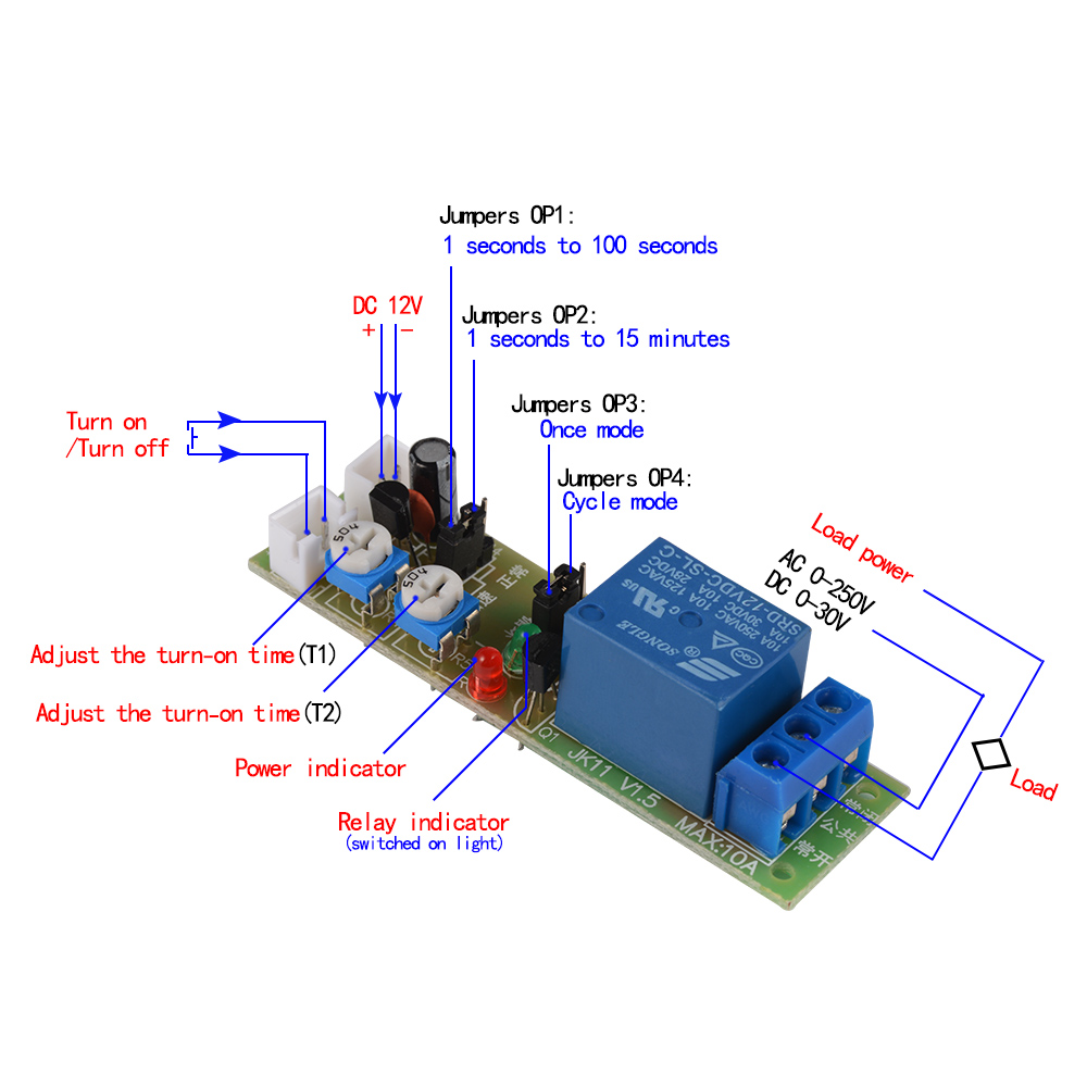 DC V Infinite Loop Cycle Timing Timer Delay Relay ON OFF Module - Power off relay