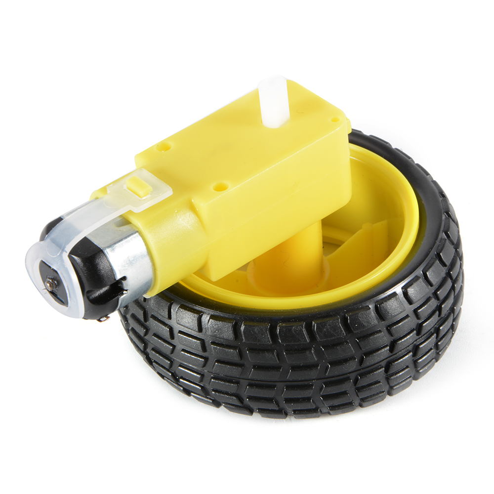 2pcs plastic tire wheel w dc 3 6v gear motor for arduino for Robot motors and wheels