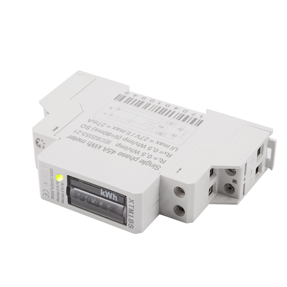 Din Rail Power Meter : Hz a v electricity kwh power energy meter