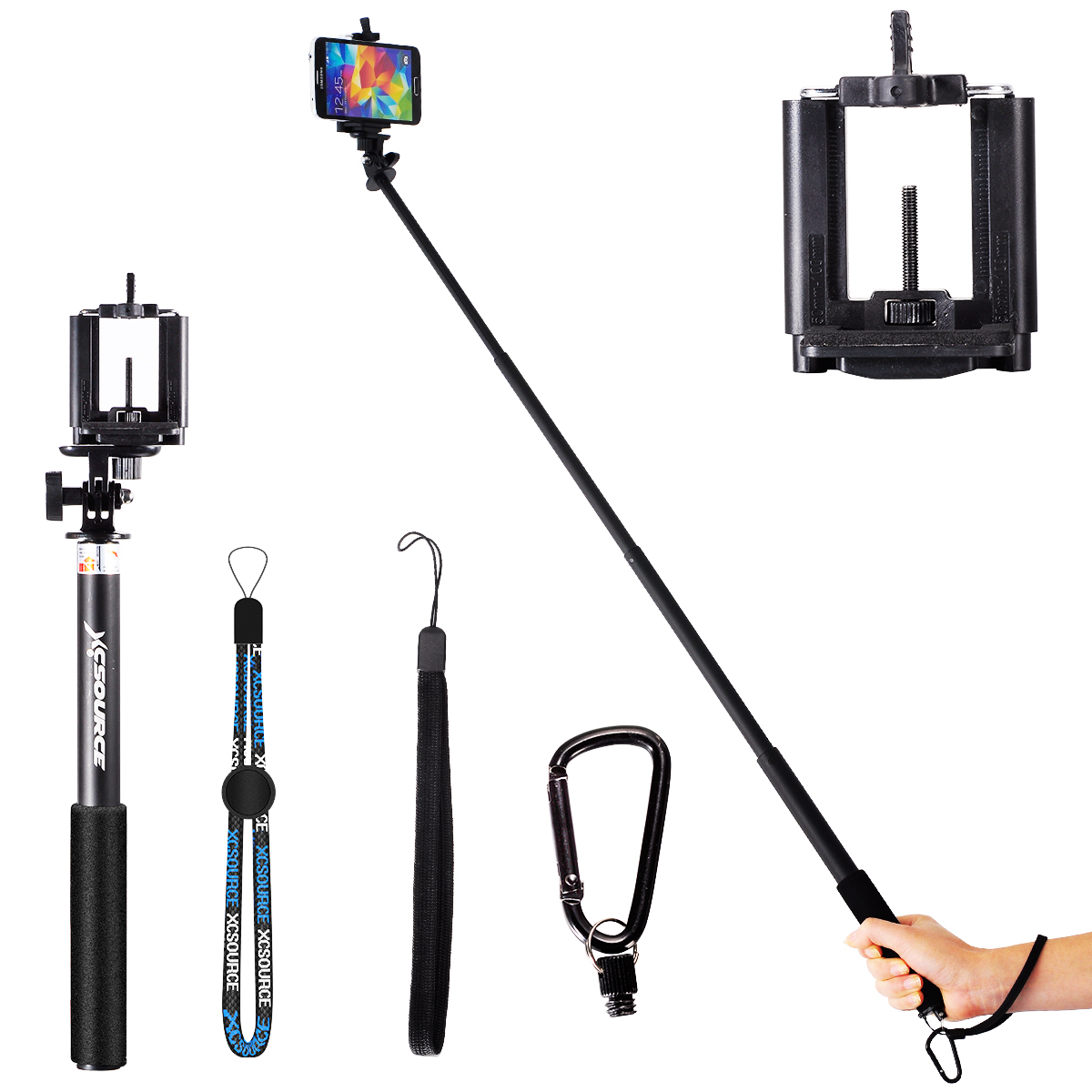 neu xcsource selfie stick monopod pole clip for iphone 5s 6 for gopro 2 ebay. Black Bedroom Furniture Sets. Home Design Ideas