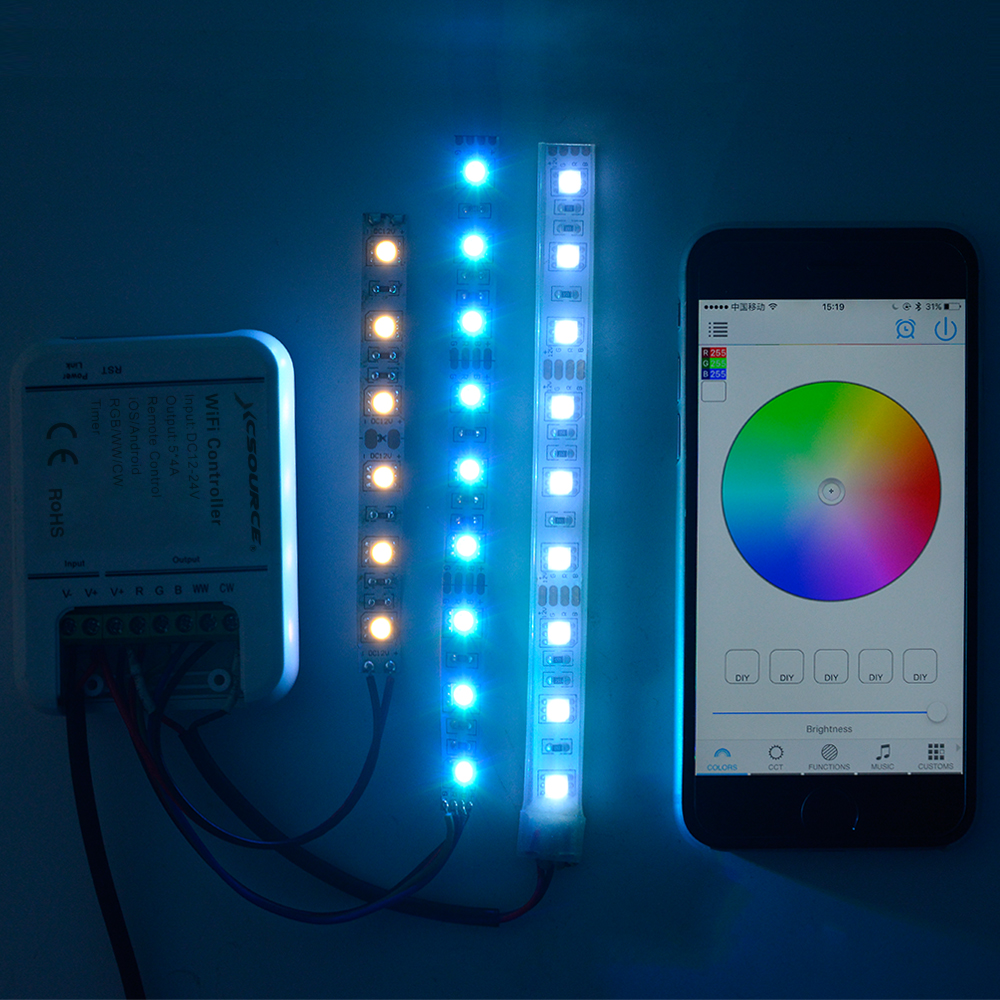 RGBY/RGBW RF/Bluetooth/WiFi LED Controller For iOS/Android